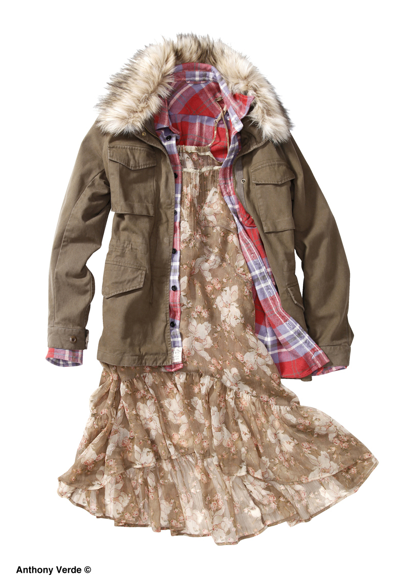 parka-dress-laydown-product-photography