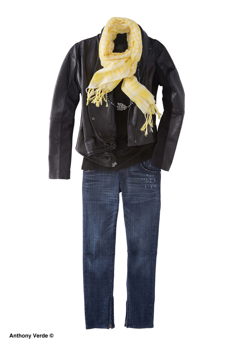 leather-jacket-yellow-scarf-product-photography
