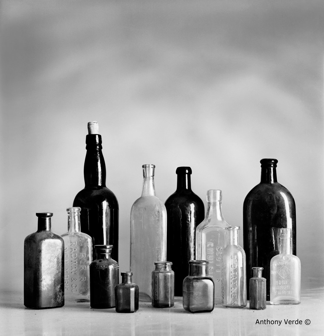 Antique--Bottles-on-Table
