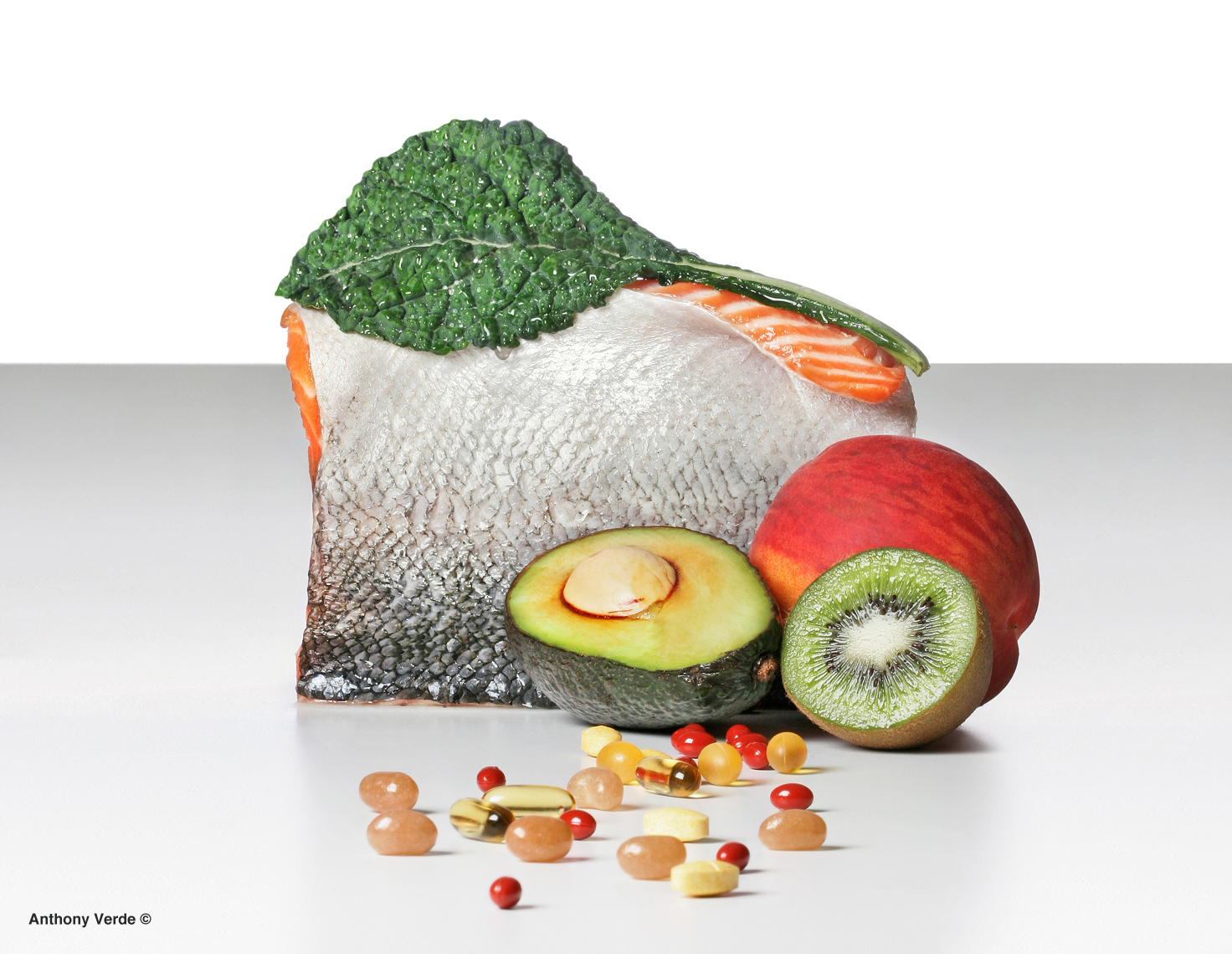 Vitamins-fish-fruit-still-life-photography